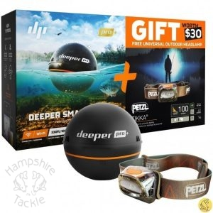 Deeper Pro Plus fishfinder with FOC headtorch